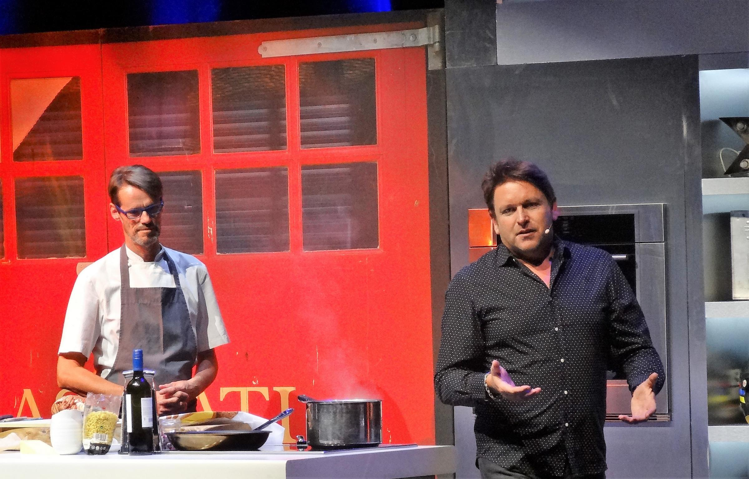 Home coming: Malton celebrity chef James Martin, right, with his deadpan sous-chef Chris Start. Picture: Paul Rhodes