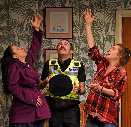 Suzanne Ahmet, left, Michael Hugo and Lisa Howard in They Don't Pay? We Won't Pay!