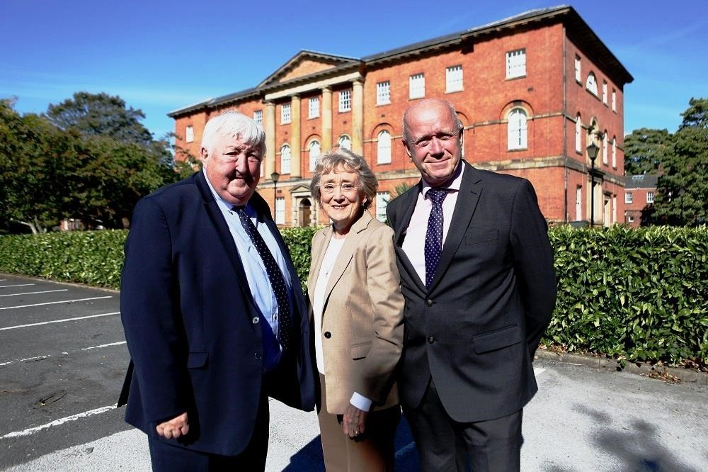 Cllr Ian Gillies, Cllr Carol Runciman and the acting chief executive of York Hospital, Mike Proctor