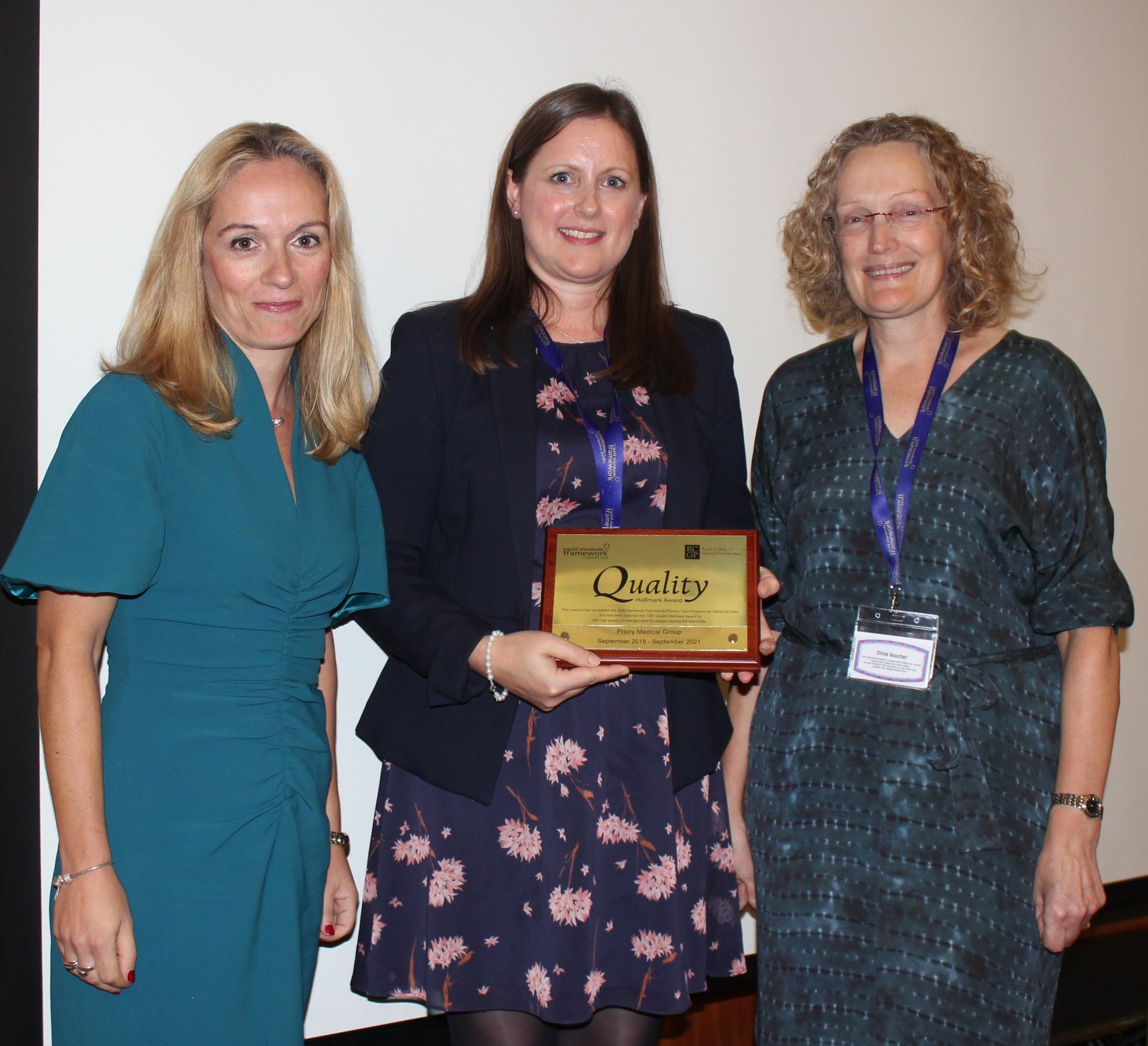 EXEMPLARY: Dr Victoria Tzortziou Brown, Integrated Care lead at the Royal College of General Practitioners, Dr Victoria Middleton and Dr Lesley Godfrey both of the Priory Medical Group