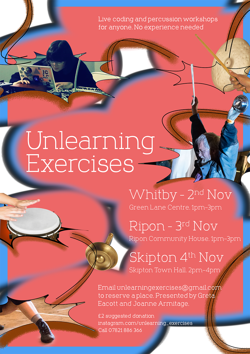Unlearning Exercises - Percussion and Live Coding workshop