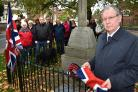 WW1 centenary commemoration at Copmantorpe Memorial with Councillor David Carr Picture Frank Dwyer