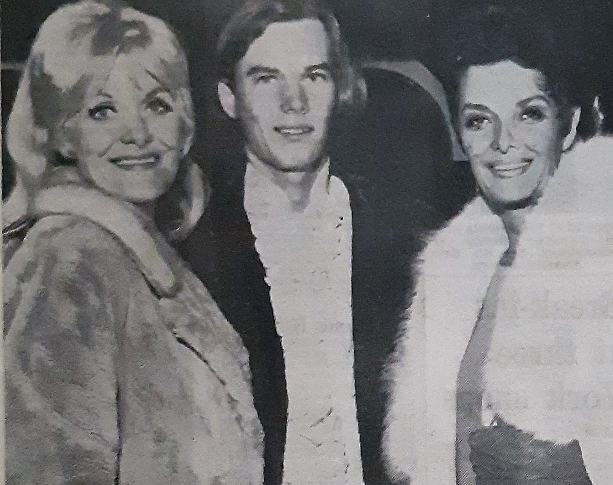 A front page picture of Jane Russell and co-star Beryl Davis in York on October 20, 1968