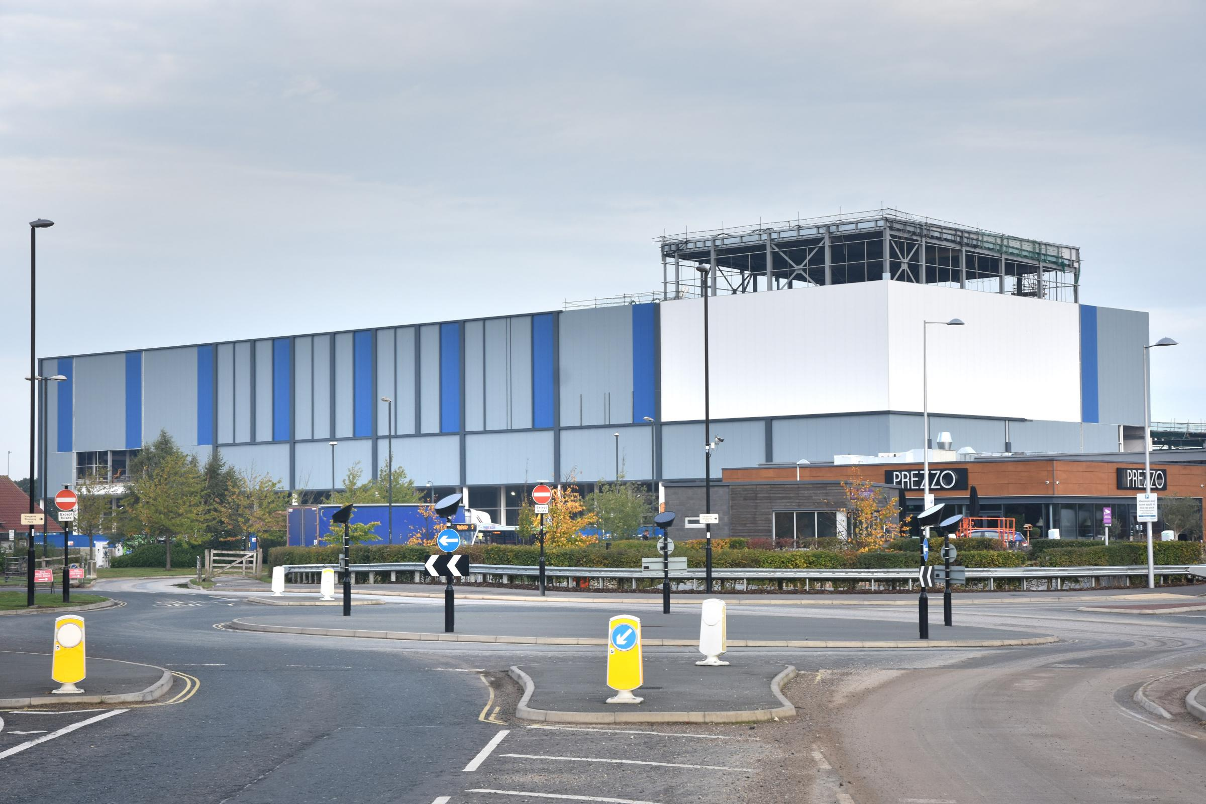 Construction update of the new Community Stadium at Monks Cross, York  Picture Frank Dwyer