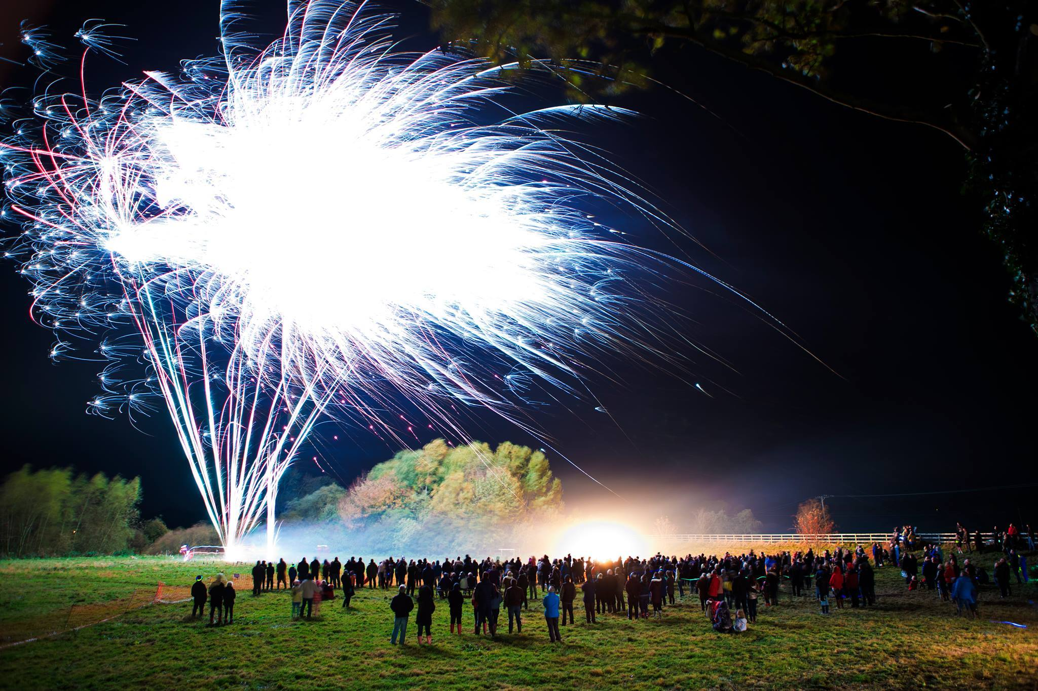 Simon Penson took this picture of the fireworks display at Helperby