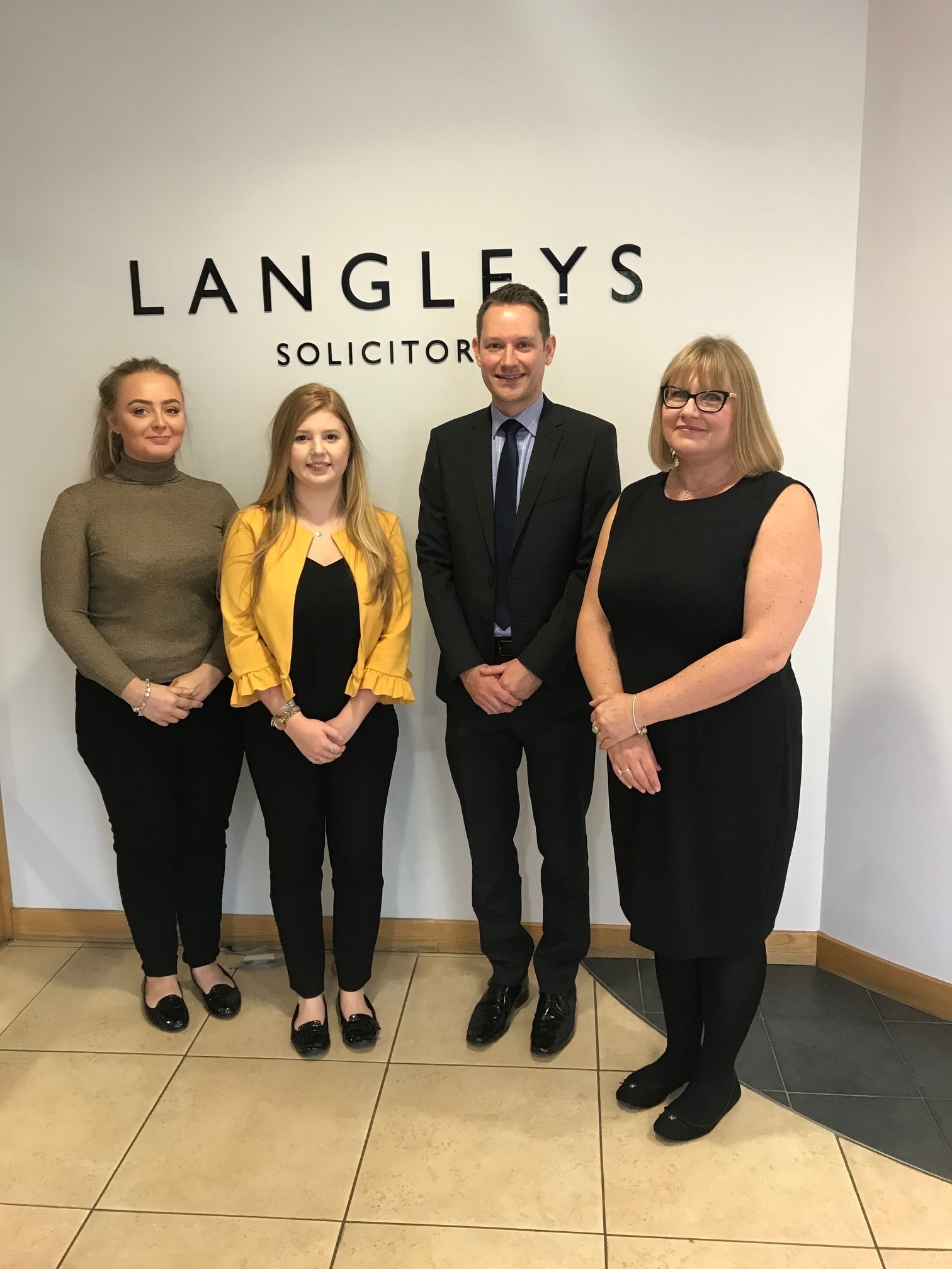 Langley's Solicitors has announced the appointment of chartered legal executive, Sarah Merrikin (right), to its medical negligence team (with, l-r, Layah Sampson, Georgina Ravencroft and partner Andrew Cragg)