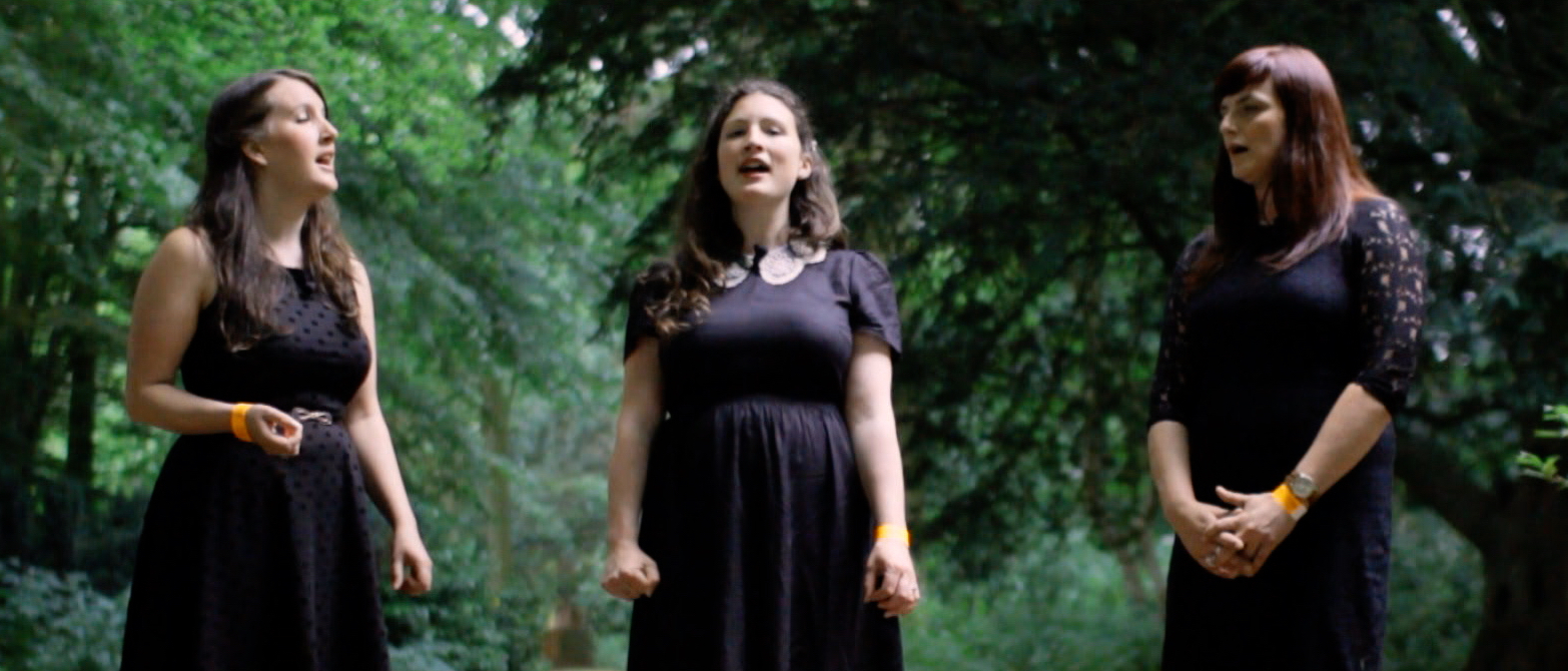 In harmony: Becky and Rachel Unthank with Niopha Keegan, playing Pocklington next spring