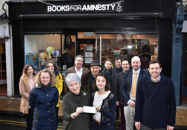 Amnesty's shop, pictured during a previous cheque presentation   Picture Frank Dwyer