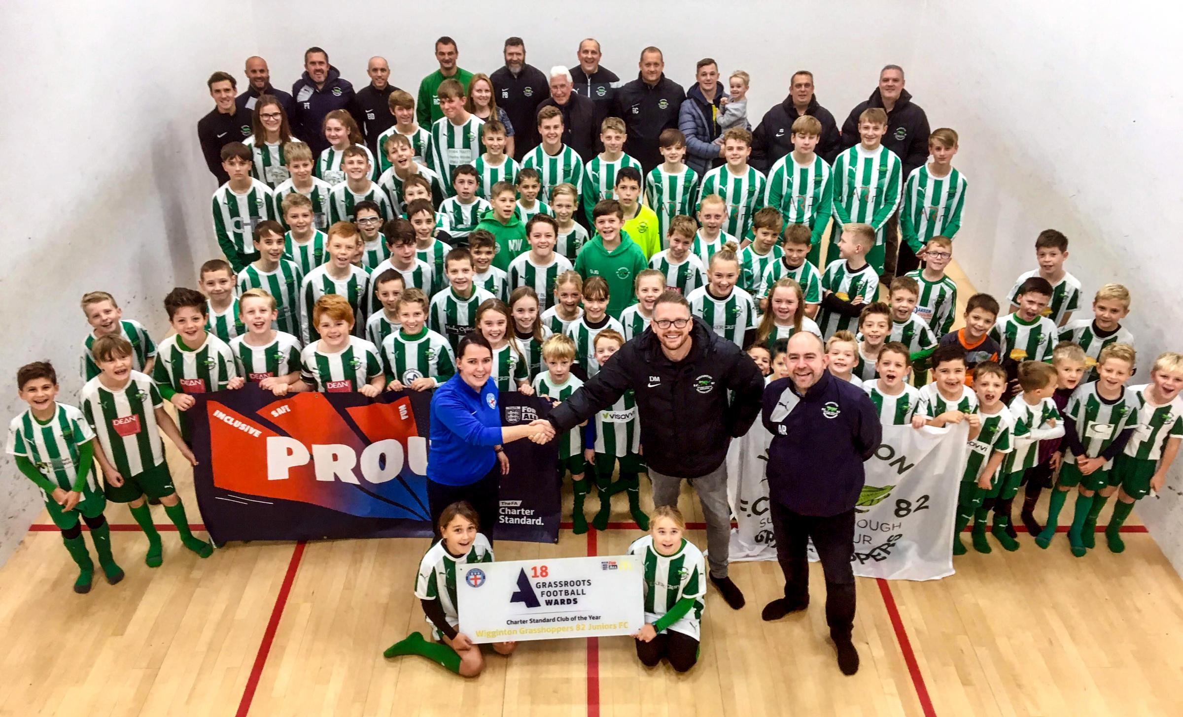 Wigginton Grasshoppers are celebrating being named the North Riding FA's Community Charter Standard Club of the Year