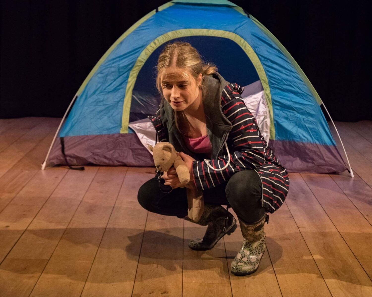 Charlotte Wood as Sam in The Castaways. Picture: Michael Oakes