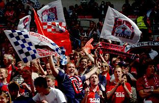 York City fans enjoy their big day out at Wembley, even though their team lost 2-0 to Stevenage in the FA Trophy final