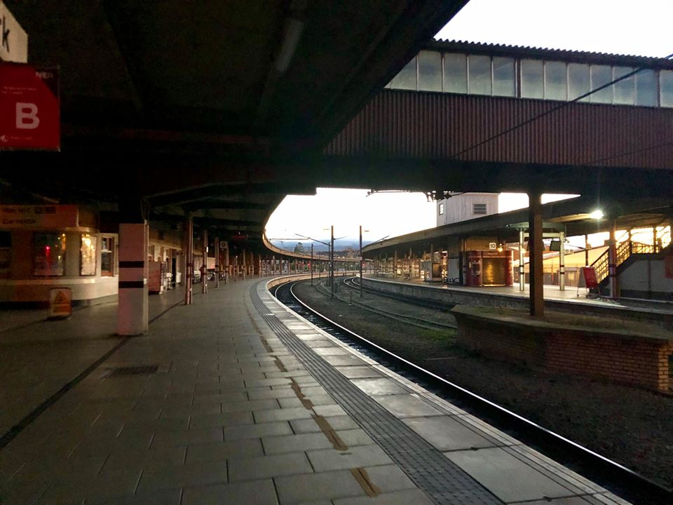 Deserted: York station this afternoon after passengers were evacuated  Picture: Dominic Billy Aron Bamber of Press Camera Club