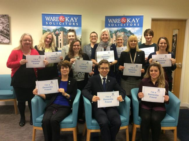 Ware & Kay staff from the firm's York office have become Dementia Friends