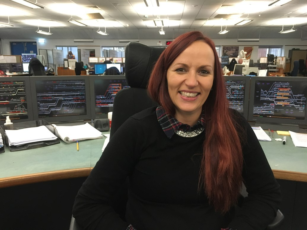 Kirsty Edmond, one of the Network Rail workers giving up Christmas to work on the project