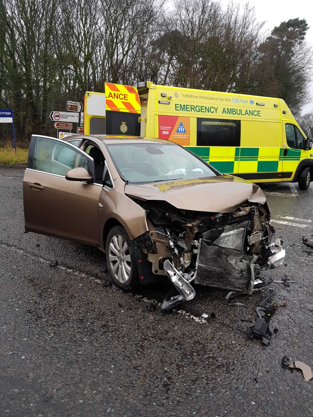 A car involved in the crash. Picture: North Yorkshire Fire and Rescue Service