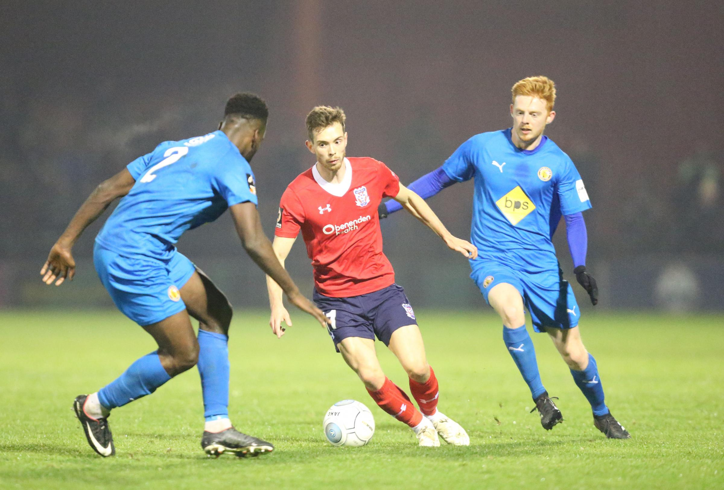 PILGRIMS TRAVELLER: Alex Bray is expected to make the coach to Boston, despite picking up a hamstring niggle against Leamington on Tuesday night. Picture: Gordon Clayton