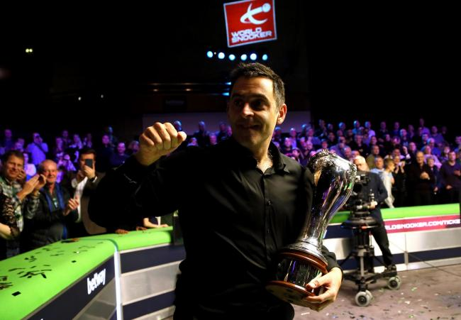 Ronnie O'Sullivan with the trophy after winning the Betway UK Championship at The York Barbican. PRESS ASSOCIATION Photo. Picture date: Sunday December 9, 2018. Photo credit should read: Richard Sellers/PA Wire