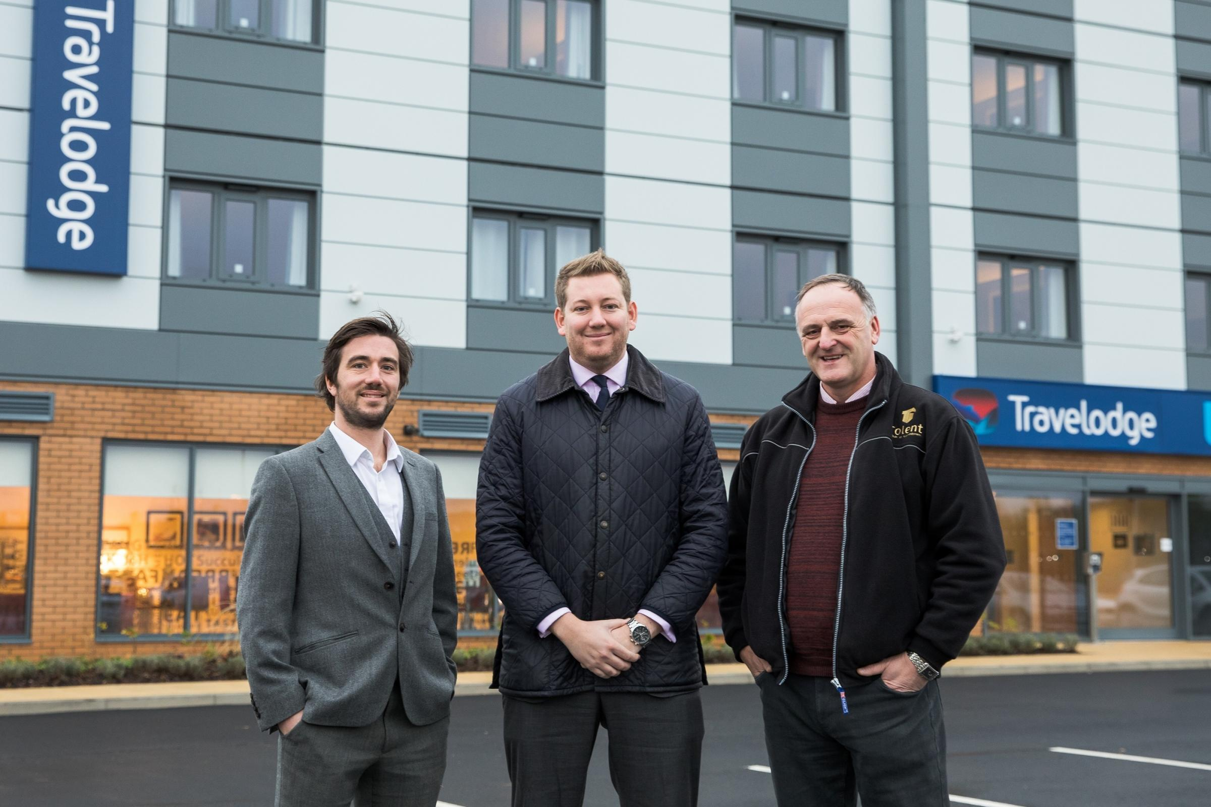 Left to right, Max Reeves of Helmsley Group; James Bradley of Langleys Solicitors; and Alan Pearson, finishing manager of Tolent Construction. Picture: Allan Scott Commercial