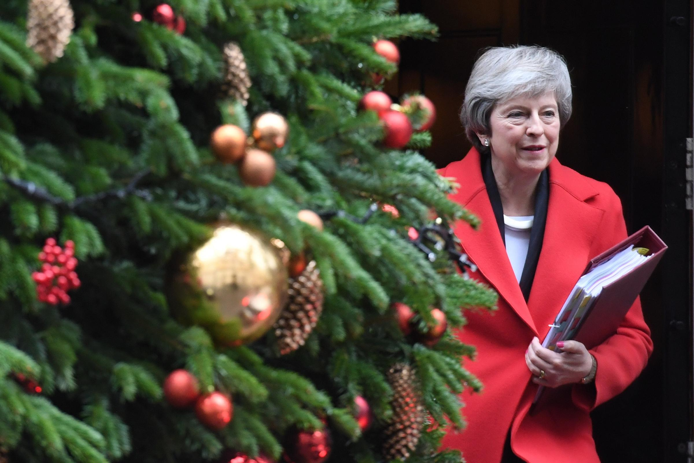 BREXIT PREPAR-ATIONS: Prime Minister Theresa May leaving 10 Downing Street