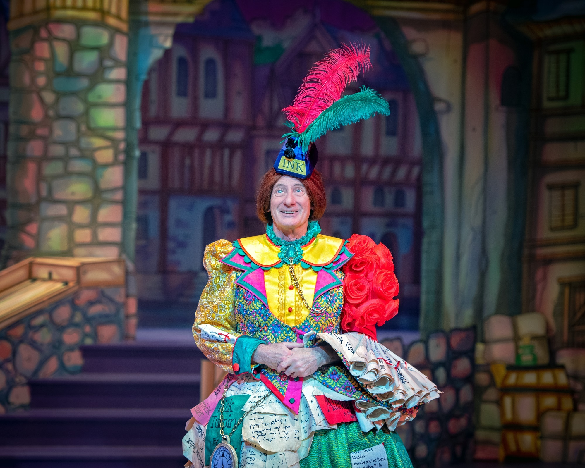Grand old exit: Dame Berwick Kaler on the first night of his last pantomime after 40 years at York Theatre Royal. Pictures: Anthony Robling