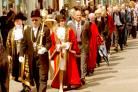 The Lord Mayor of York, Coun John Galvin, and the new Sheriff, Jill Burnett, parade through the streets after the Mayor Making ceremony in the Guildhall earlier this year.