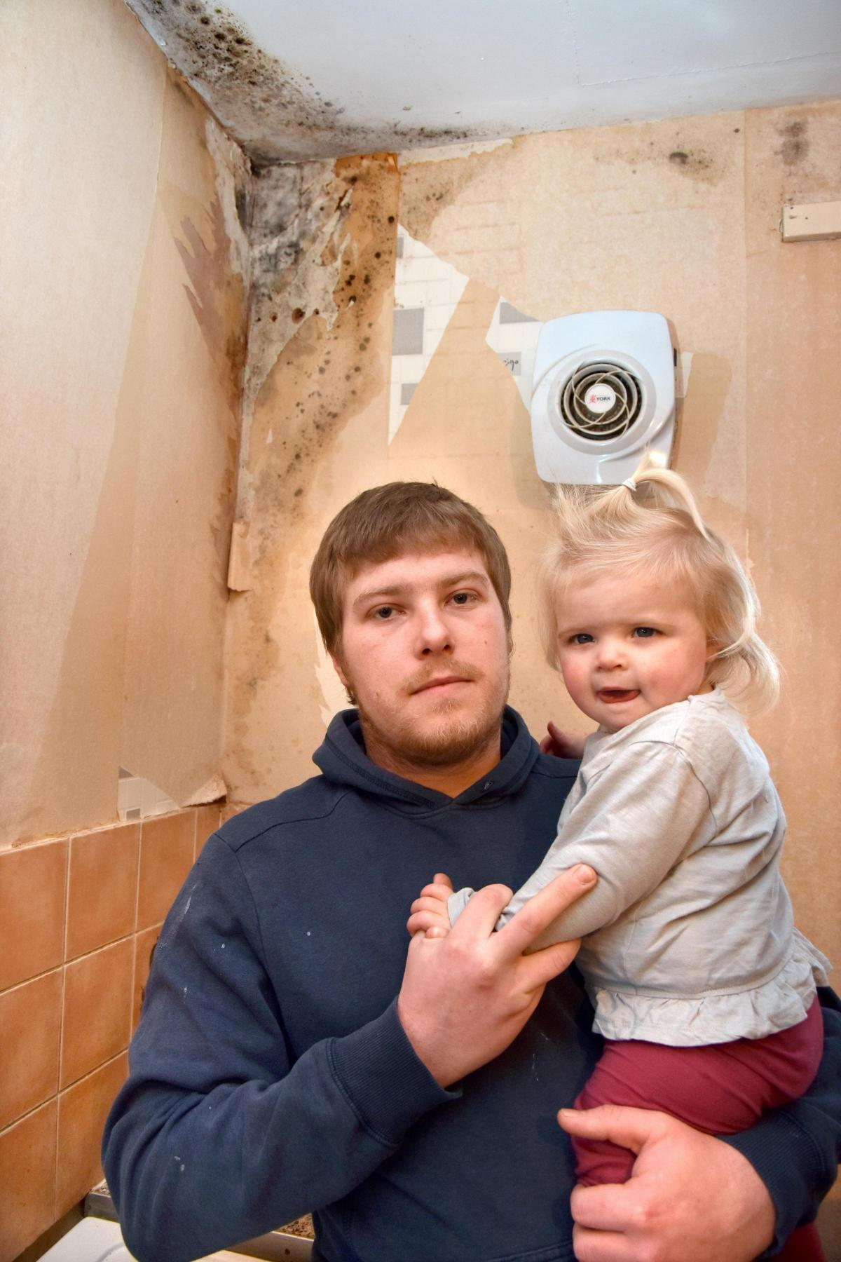 dad fears mould in york flat will damage his children s health
