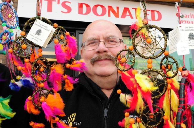 Gordon Campbell-Thomas, pictured with dream catchers outside Its Donated on Lowther Street.