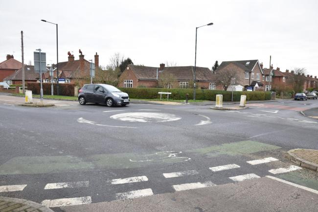 ACCIDENT SPOT: York Road/ Eastfield Avenue mini roundabout in Haxby  