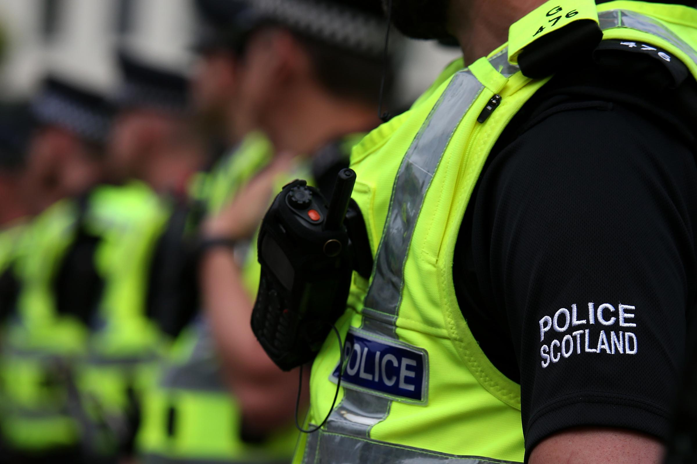 A Police Scotland officer