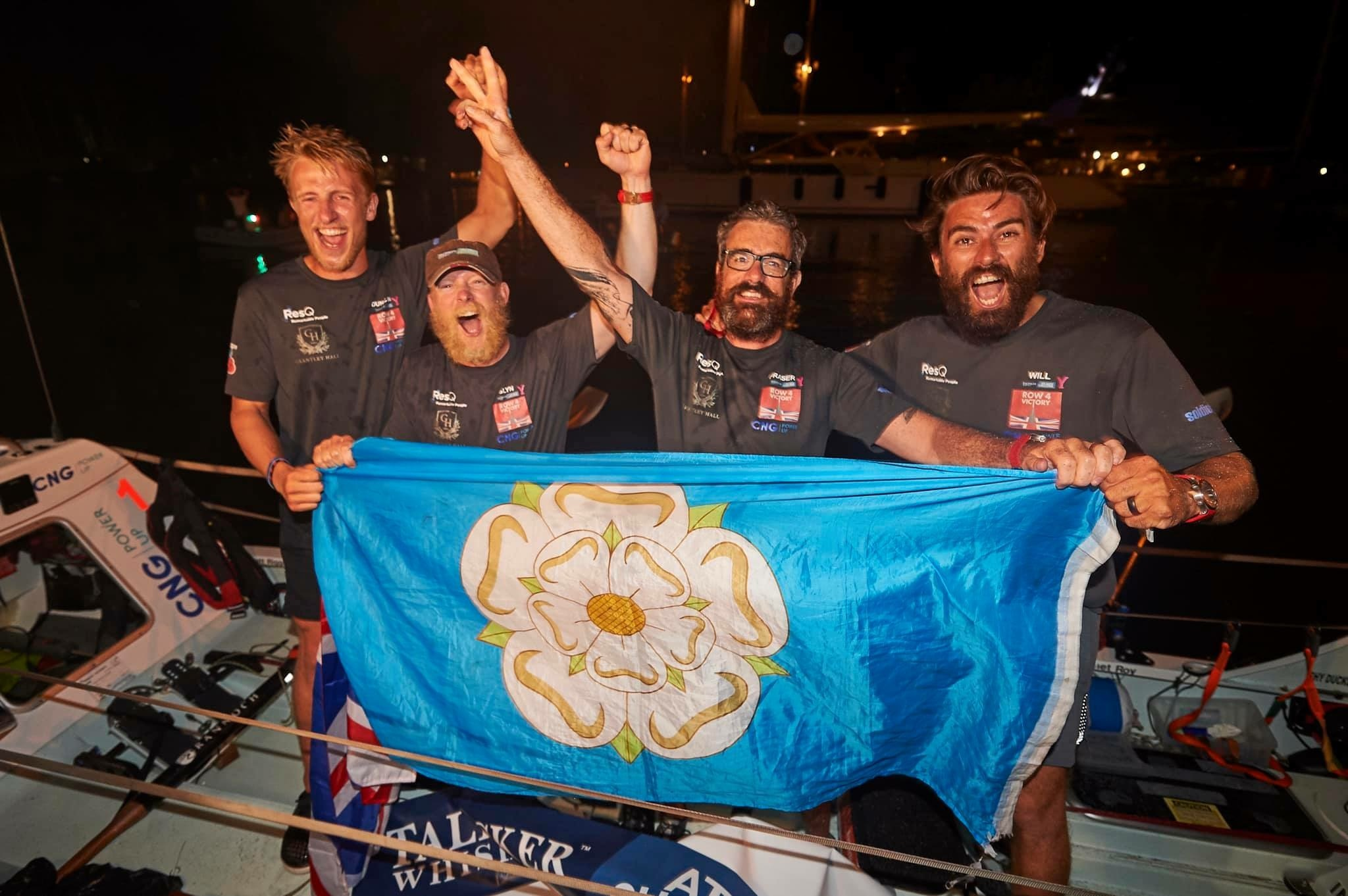 Row4Victory at the finish line. Picture: Ben Duffy/Talisker Whisky Atlantic Challenge