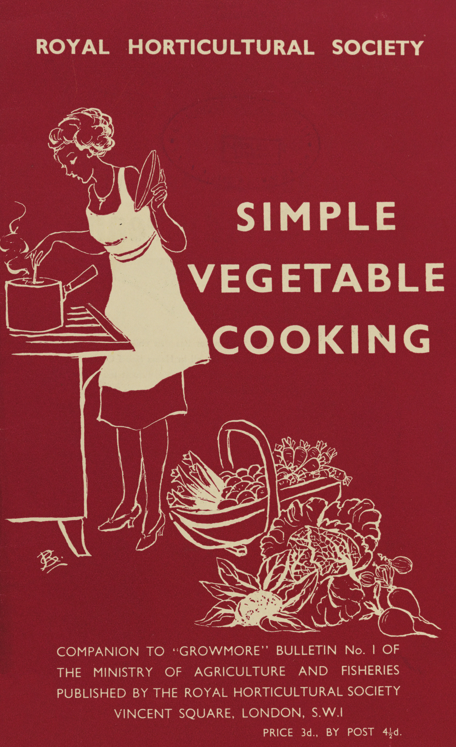 Simple Vegetable Cooking guide in wartime from RHS Lindley Collections