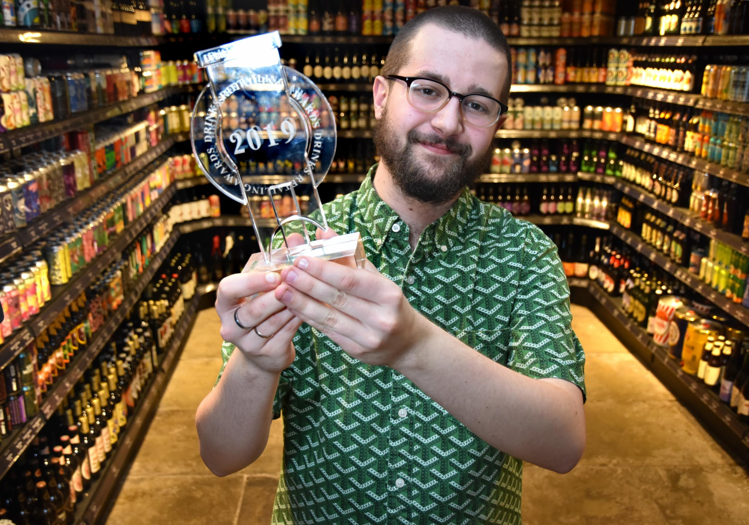 The House of Trembling Madness Beer Shop has won an award for being independent Beer Retailer of the Year with Deputy Manager, BillHerbert  Picture Frank Dwyer