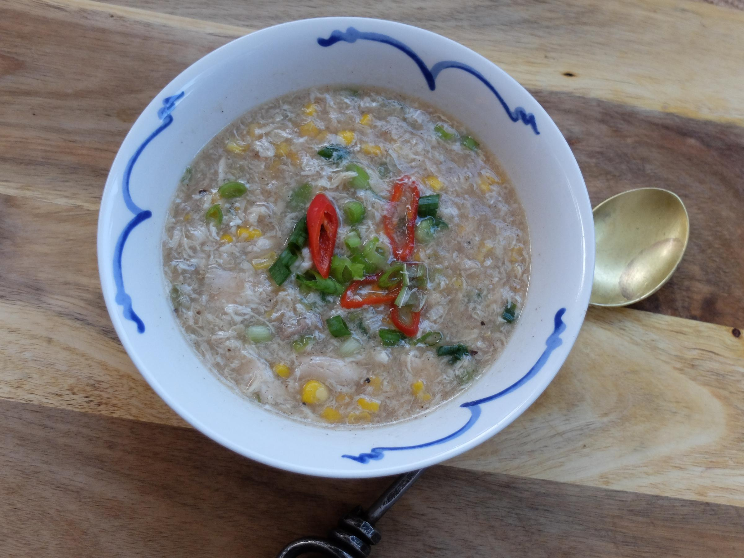 Gluten-free Chinese chicken soup by Victoria Hall