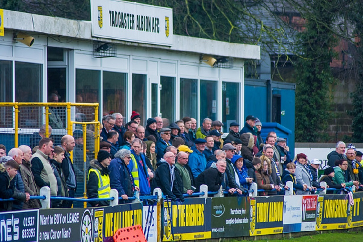 GROUNDS FOR IMPROVEMENT: Tadcaster Albion are bidding for a Buildbase bursary to provide a new hospitality area at their Ings Lane stadium