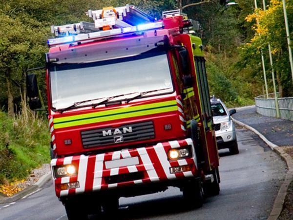 Crews tackle barn fire near York
