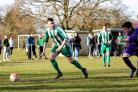 SPOIL SPORT: Wigginton Grasshoppers' Michael Byram's goal ended Sporting Knavesmire's hopes of taking a point against the reigning champions