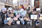 PROTEST: Students at the rally in York's St Helen's Square on Friday to protest against climate change. Picture: Frank Dwyer