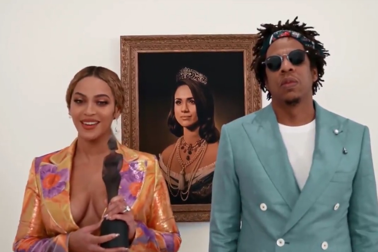 Beyonce and Jay-Z receive their Brit Award