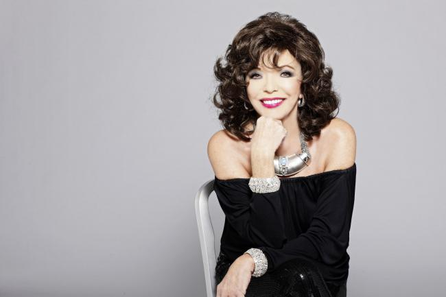 Relaxed and insightful: Dame Joan Collins in her Unscripted show at the Grand Opera House
