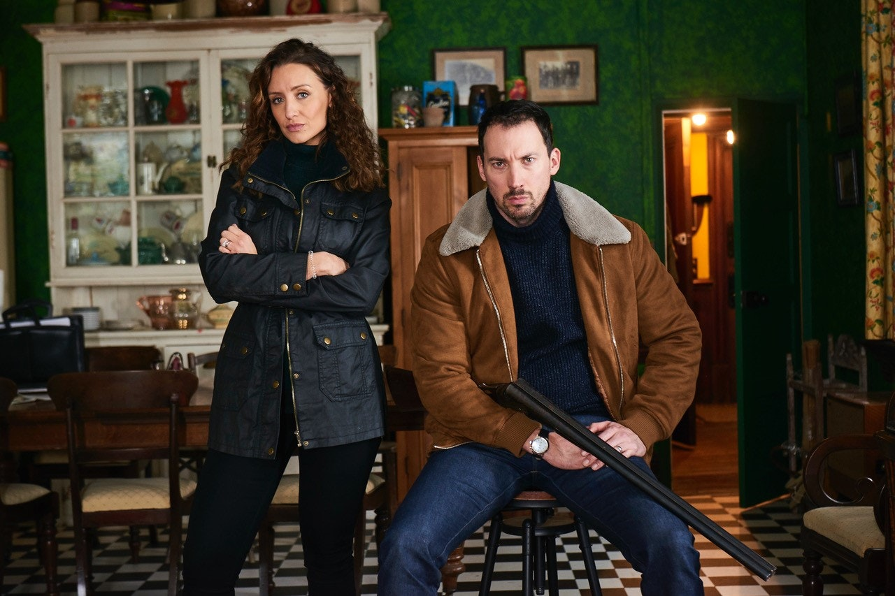 Catherine Tyldesley and David Caves in Channel 5's 15 Days