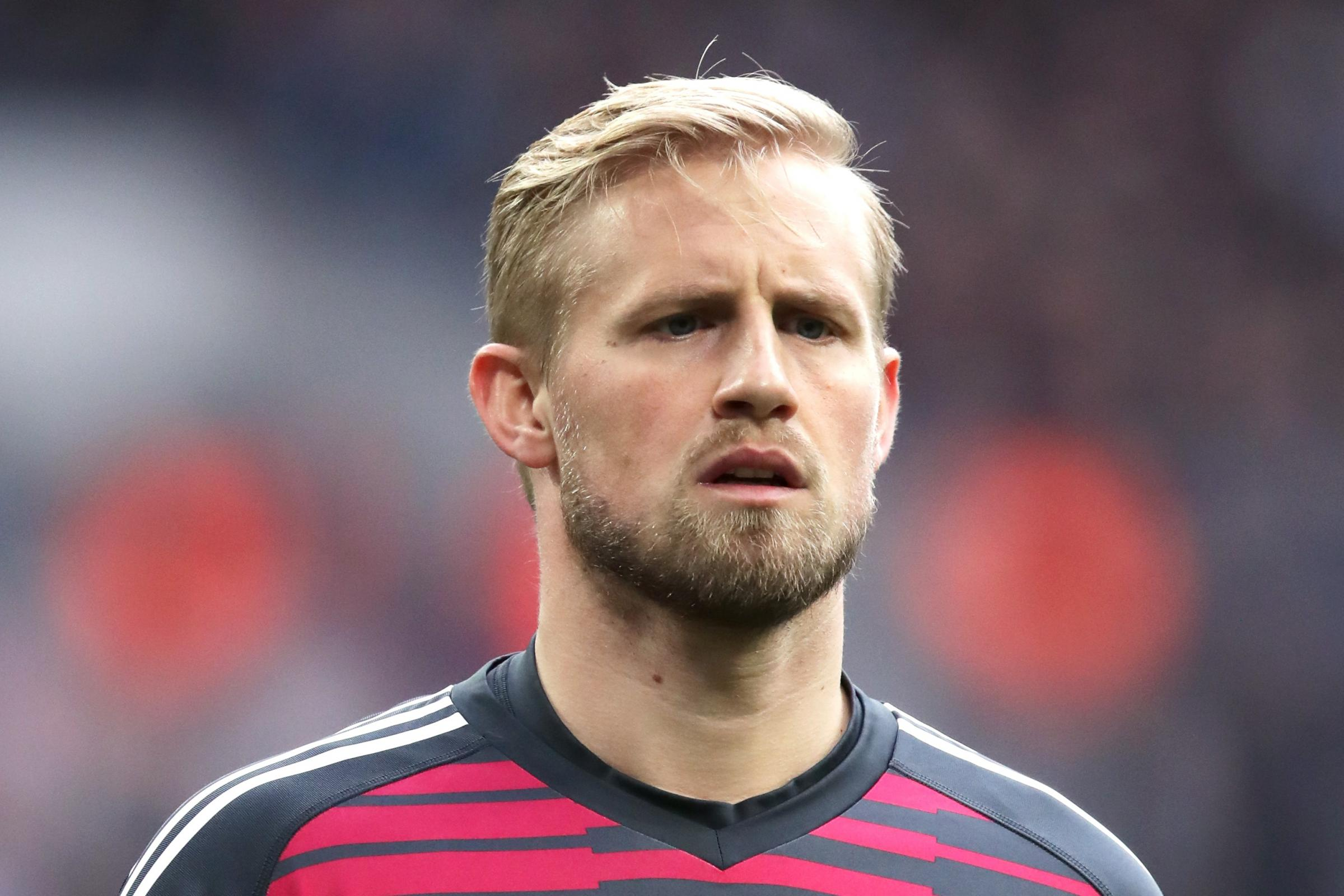 Leicester goalkeeper Kasper Schmeichel has spoken to Claude Puel about his father's comments