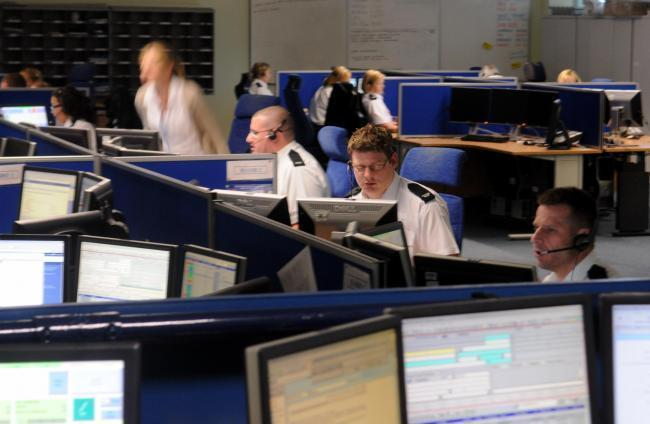 North Yorkshire Police's Force Control Room