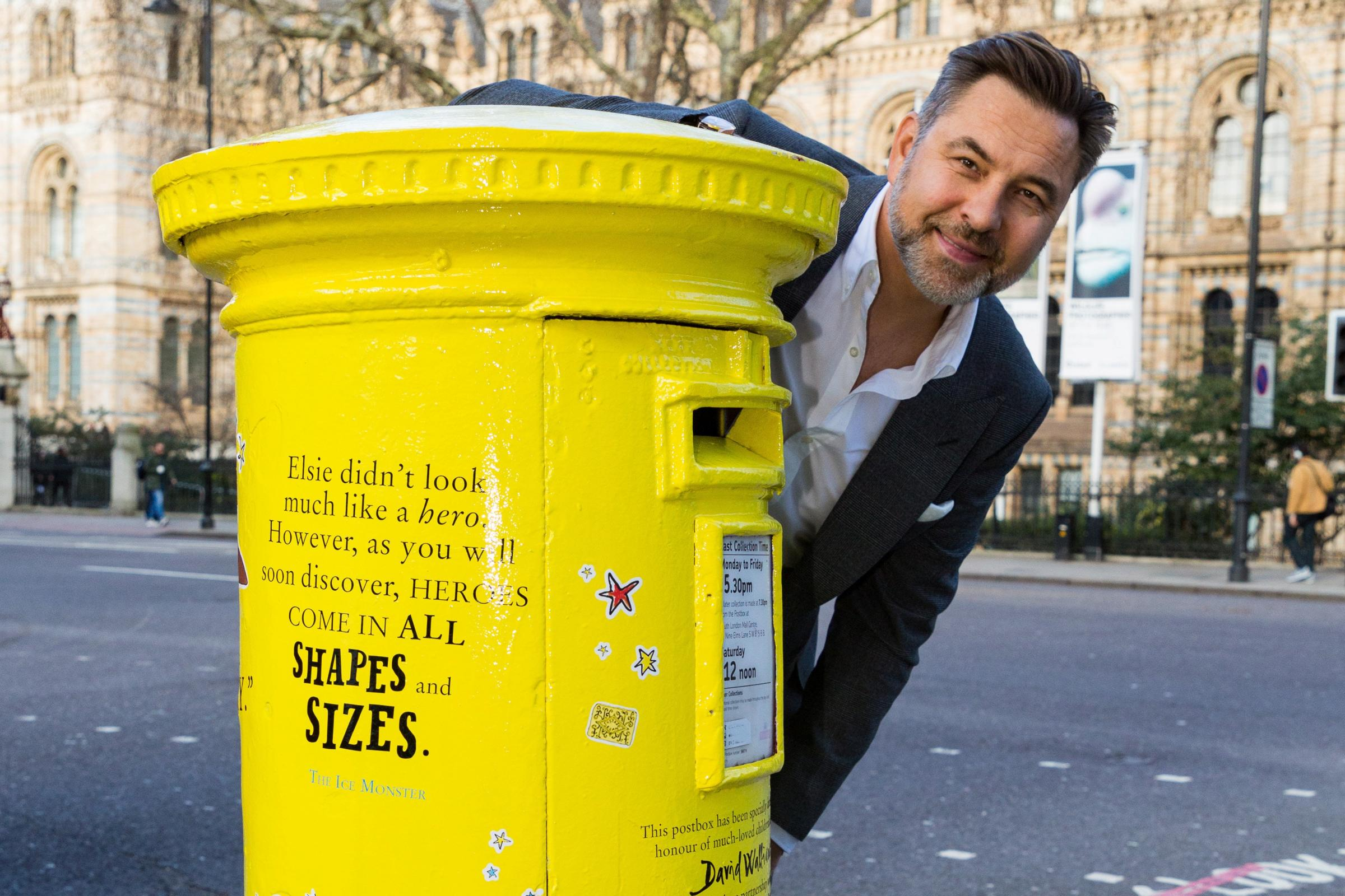 David Walliams with special postbox for World Book Day