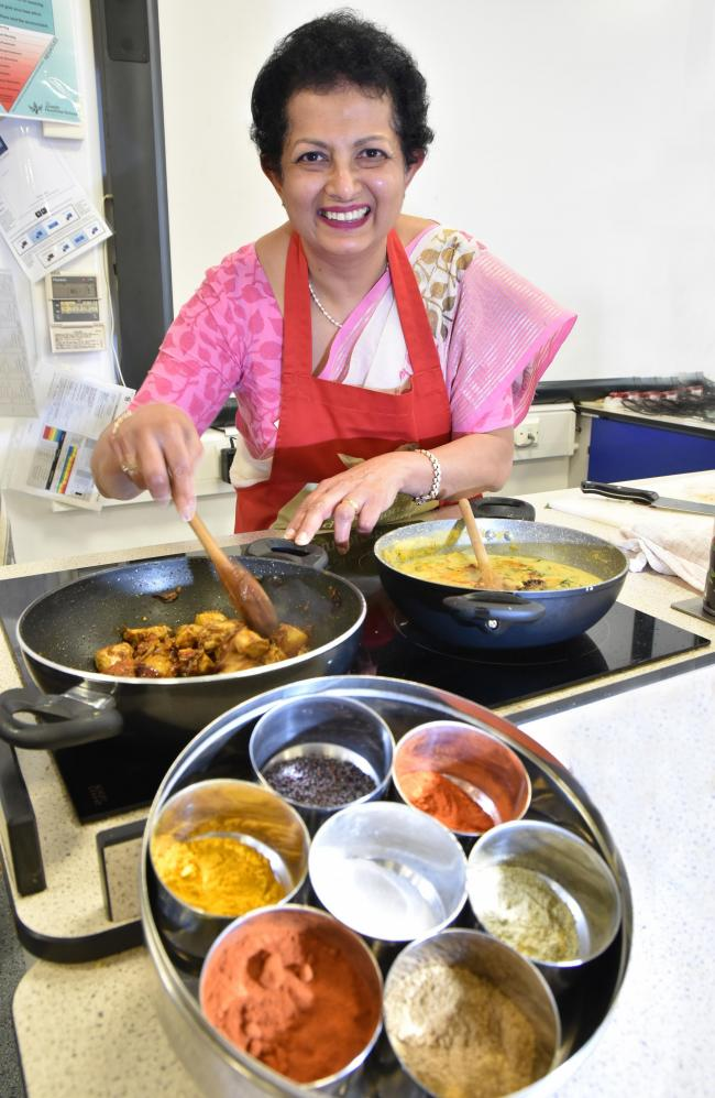 Indian cookery tutor Sharmini Thomas   Picture: Frank Dwyer