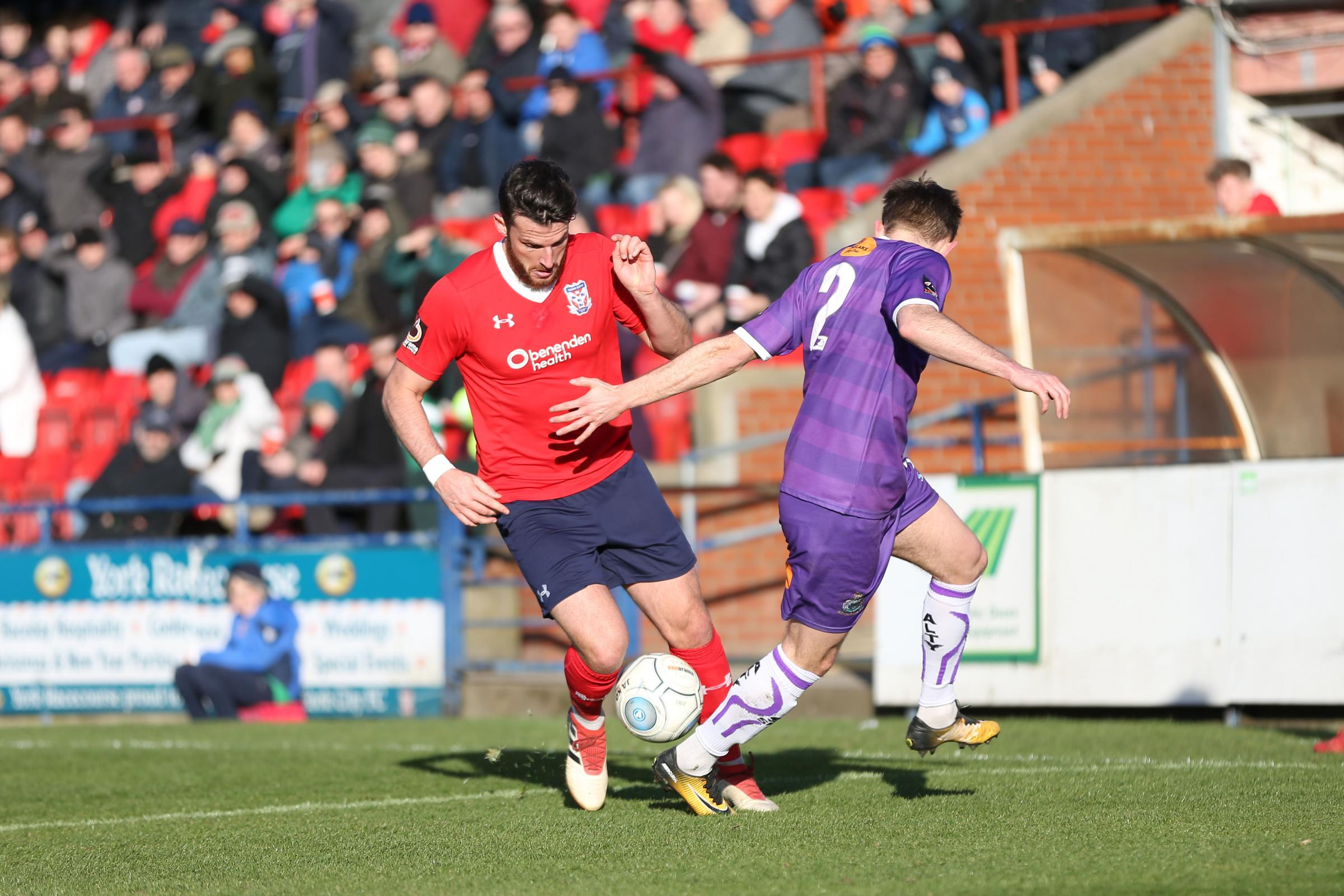 NEW LEASE OF LIFE: York City utility man Sean Newton has been virtually fault free since his switch to centre back following a difficult first six months of the season. Pictures: Gordon Clayton