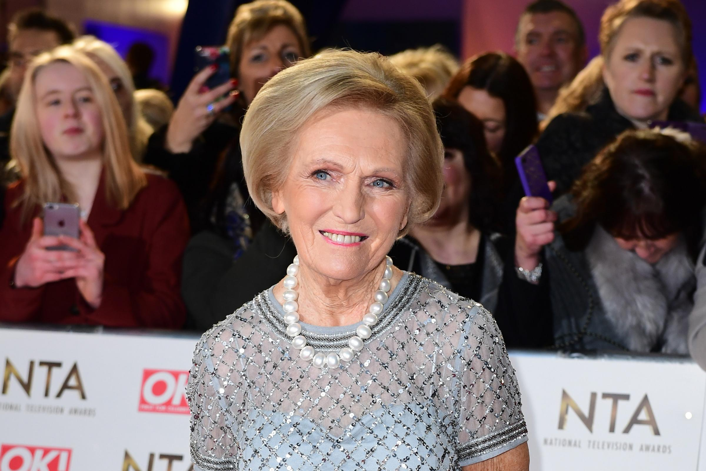 Mary Berry at an awards show