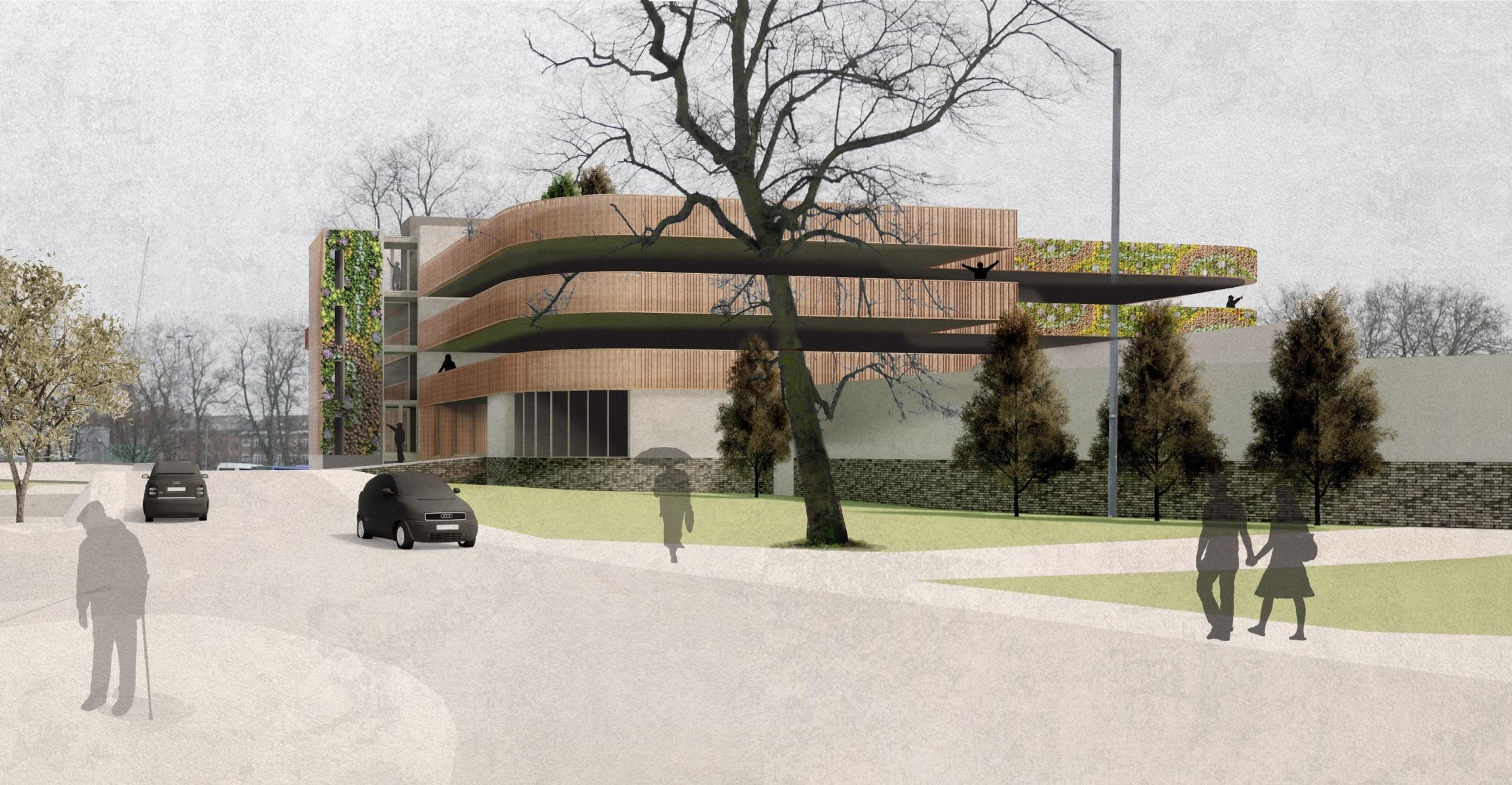 OPPORTUNITY MISSED: View of the proposed multi-storey car park at St George's Field