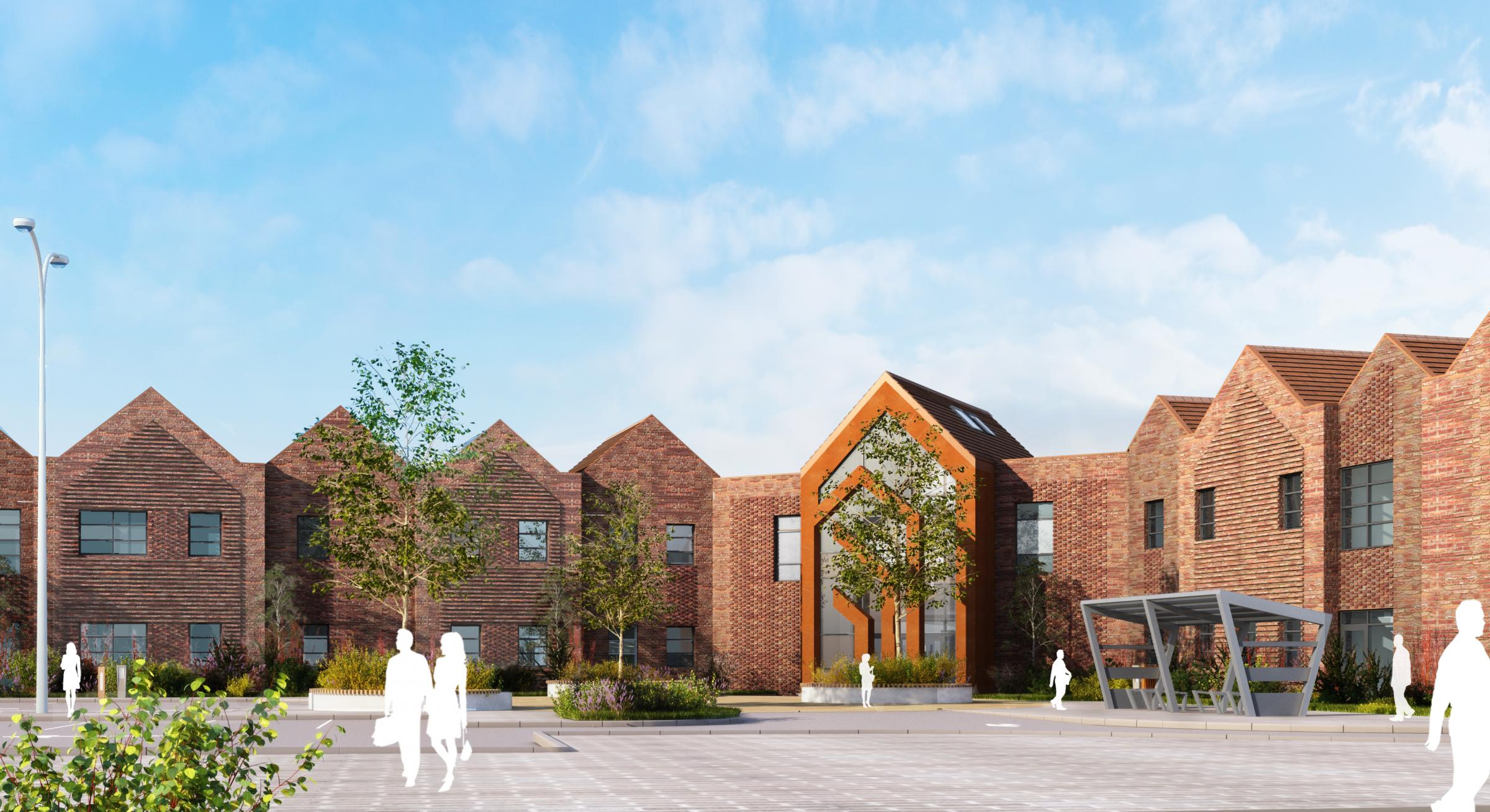 Foss Park Hospital, an artist's impression of the new mental health hospital in Haxby Road,York.