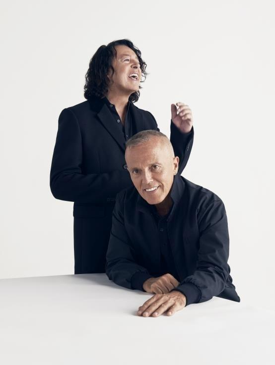 IN WITH A SHOUT: Tears For Fears' Roland Orzabal and Curt Smith at York Racecourse