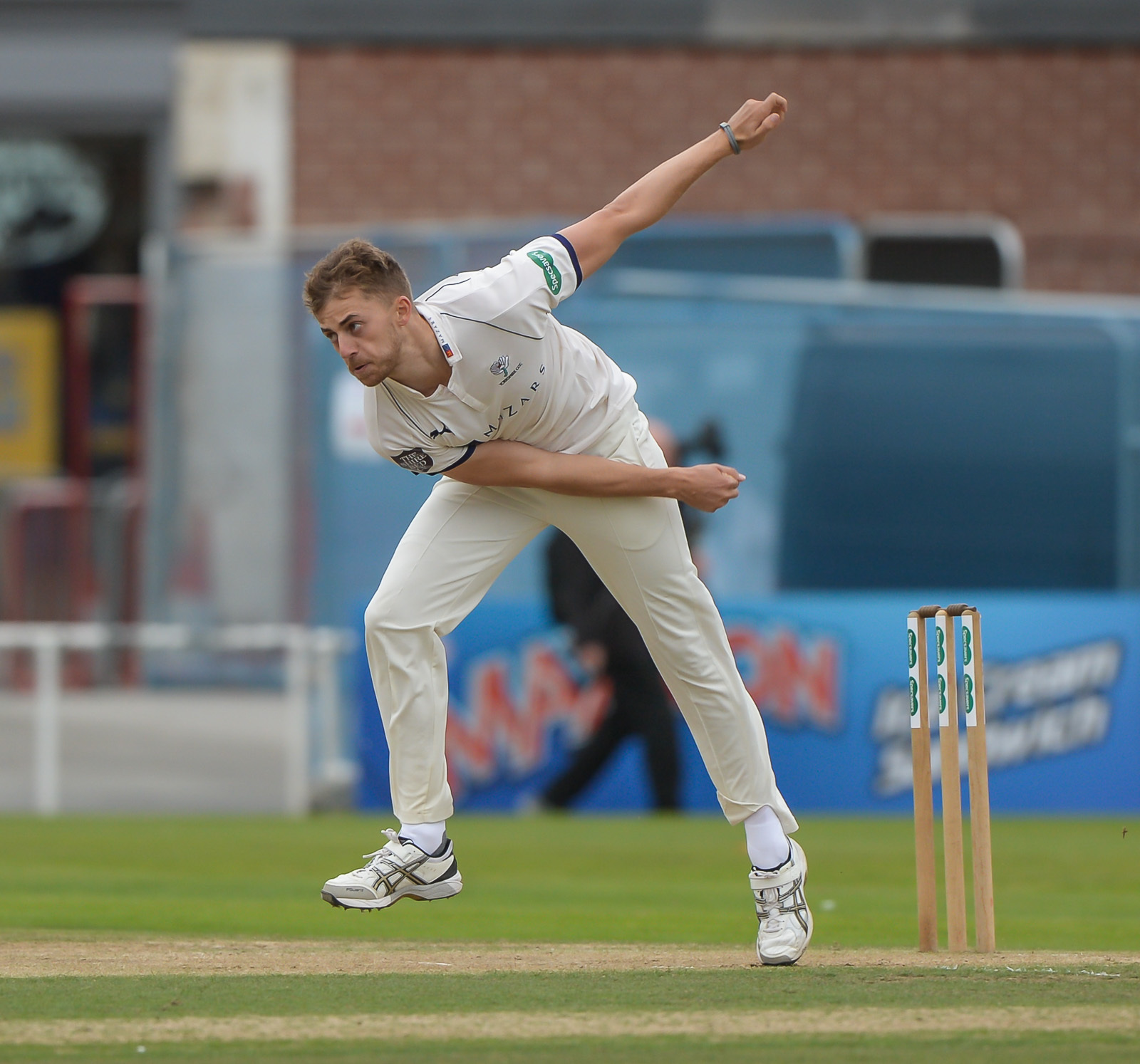 Ben Coad was amongst the wickets again in Yorkshire's win. Picture: Ray Spencer